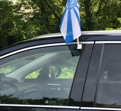 Car  flags /pennants + holder