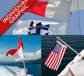 Boat flags and signal code flags